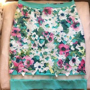 EVA FRANCO Floral Pencil Skirt